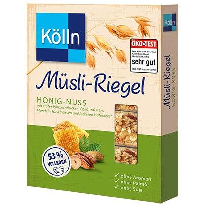 sehr gut im Test von Öko-Test 4/2020: Kölln Müsli-Riegel Honig-Nuss