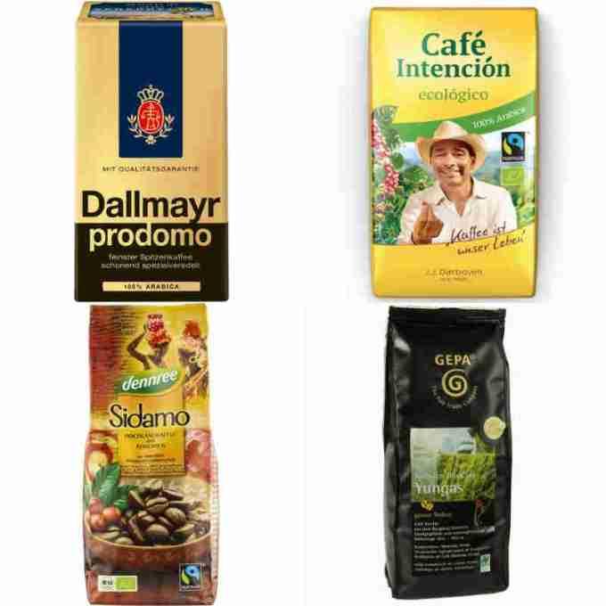 sehr gut im Test von Öko-Test 10/2012 und Testsieger bei Markt 20.2.2017: Kaffee