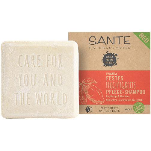 sehr gut im Test von Öko-Test 9/2020: Sante Festes Feuchtigkeitspflege-Shampoo Bio-Mango Aloe-Vera