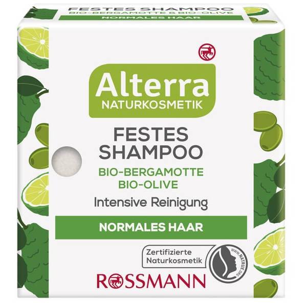sehr gut im Test von Öko-Test 9/2020: Alterra Festes Shampoo Bio-Bergamotte Bio-Olive (Rossmann)