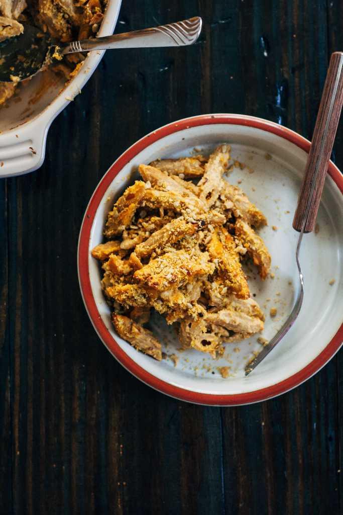 Cozy Sweet Potato Macaroni Bake | Well and Full