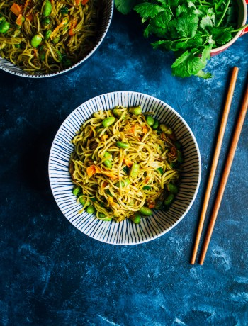 Spicy Green Tea Noodles | Well and Full | #vegan #recipe
