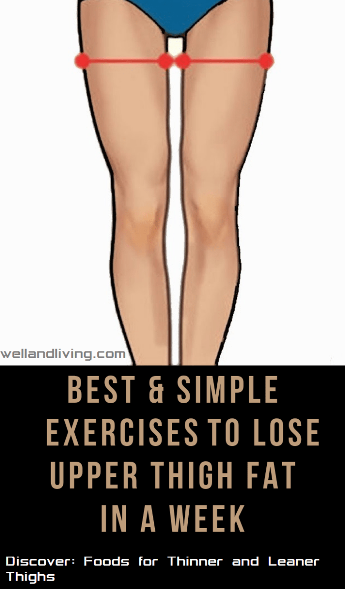 7 Easy Exercises to Lose Upper Thigh Fat in 7 Days