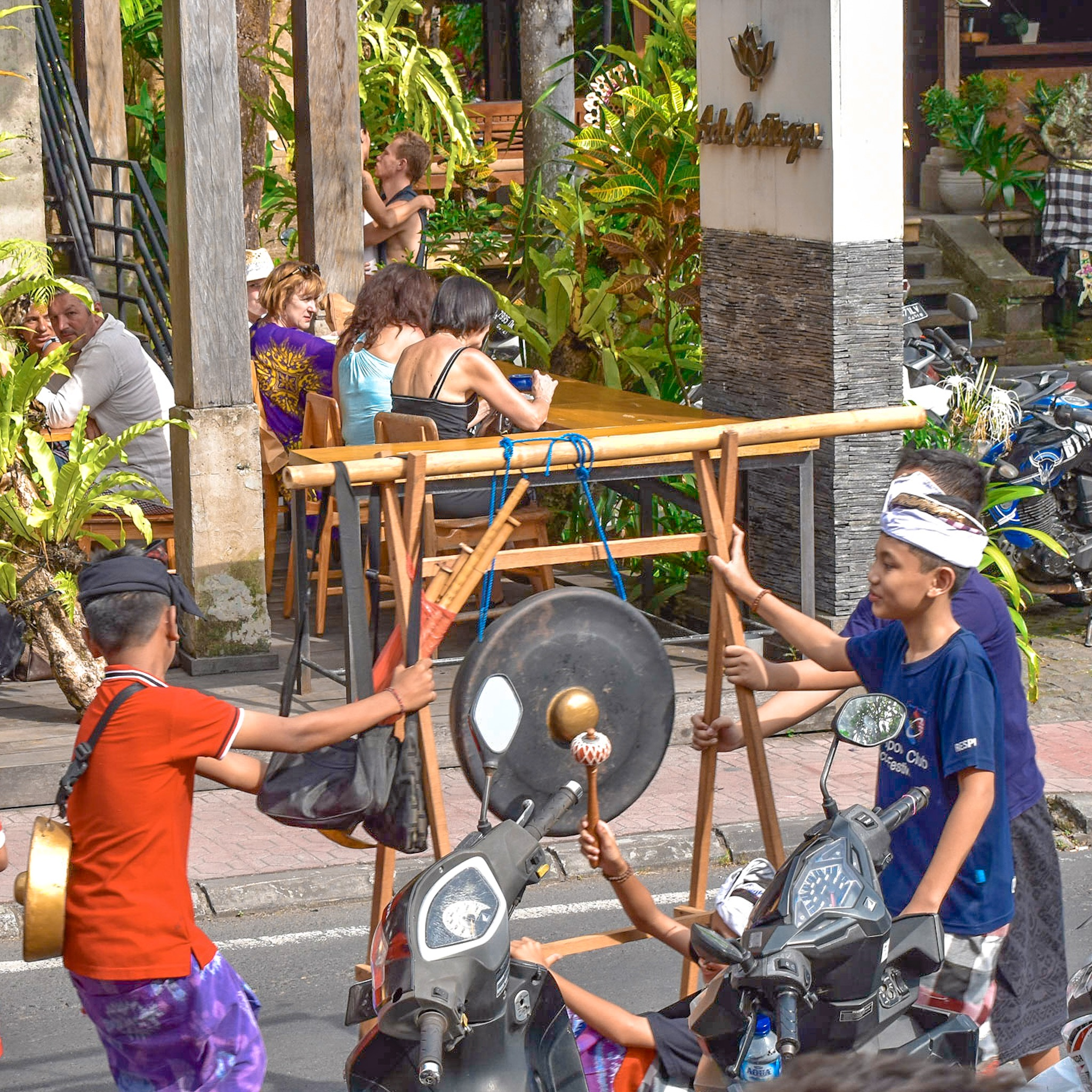 Children Celebrate Galungan Day in Bali, Indonesia