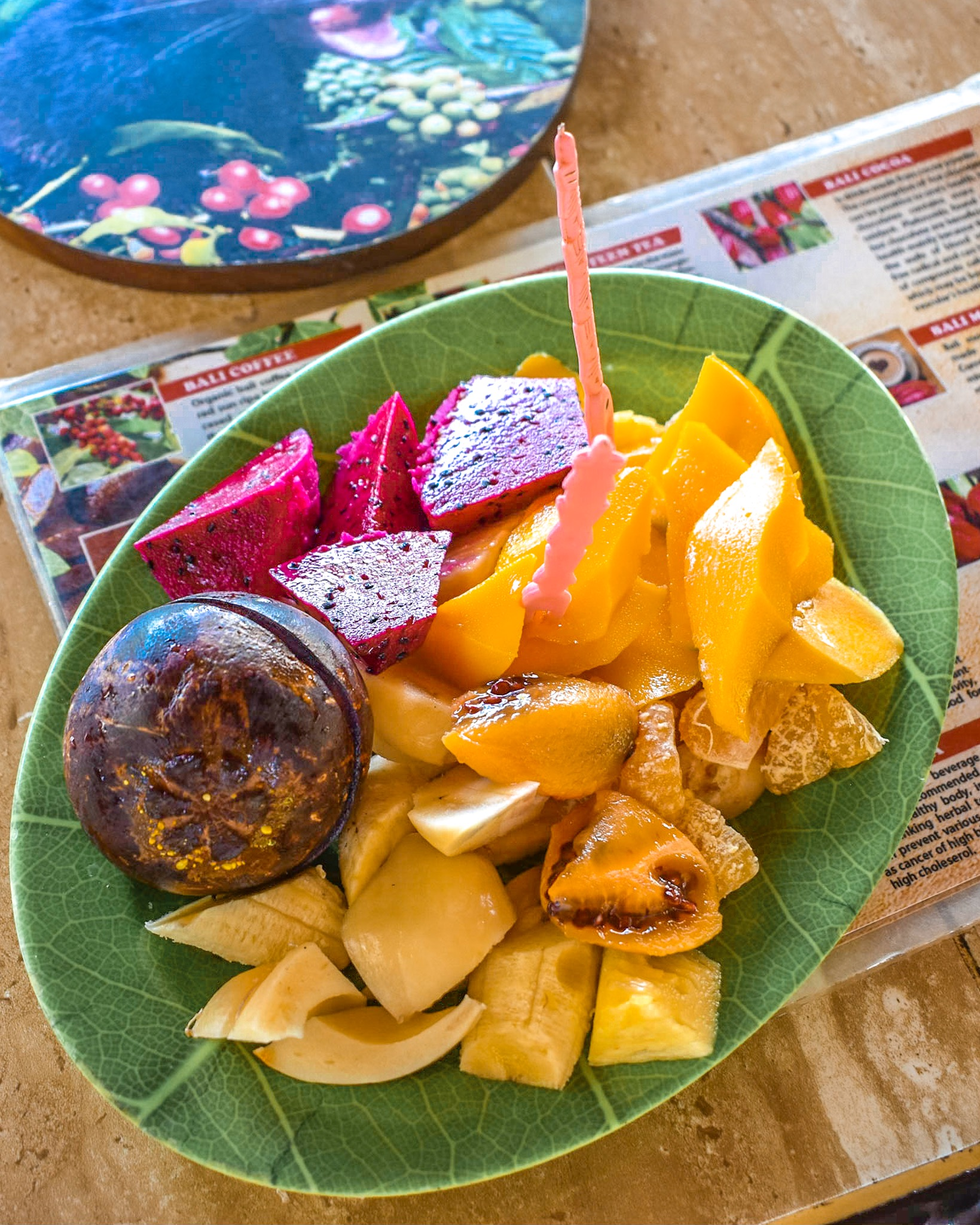 Delicious Fruit Platter at Coffee Plantation in Bali