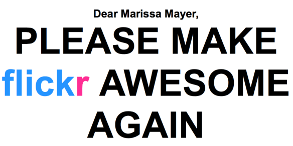Dear Marissa Mayer