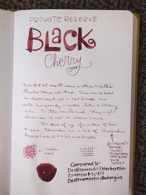 Private Reserve Black Cherry Writing Sample
