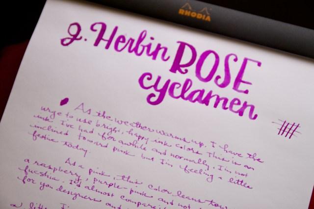 J. Herbin Rose Cyclamen Ink
