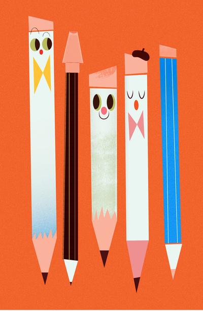 Leah Greenberg ve Pencils Print