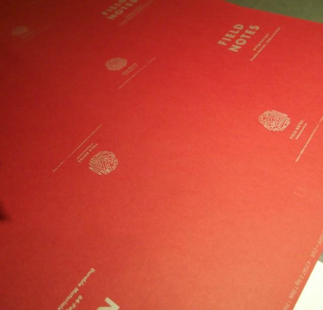 Field Notes Arts & Sciences Uncut press sheet