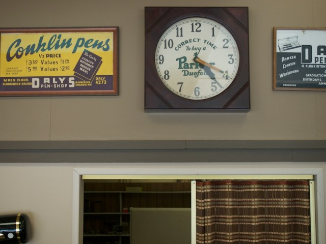 Daly's Pen Shop Clock