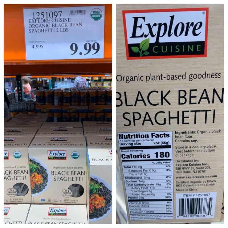 Costco Explore Cuisine Organic Black Bean Spaghetti