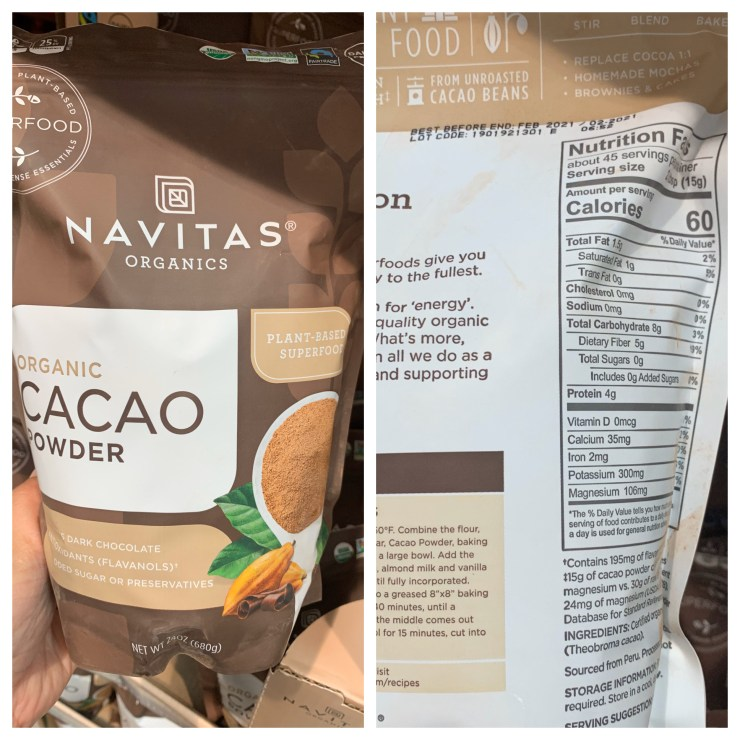 Costco Navitas Organic Cacao Powder