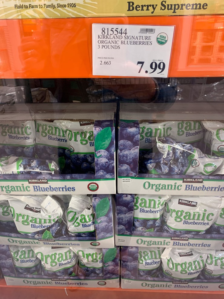 Costco Kirkland Signature Organic Blueberries