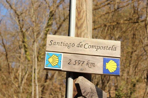 Santiago de Compostela resterende km