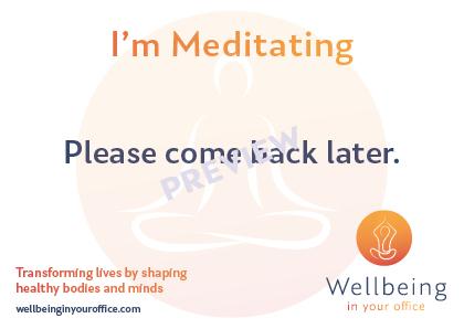 Meditating Postcard