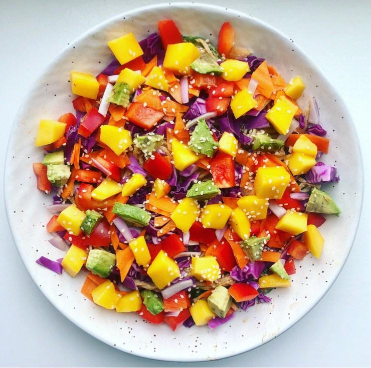 healthy vegetable soba noodle bowl