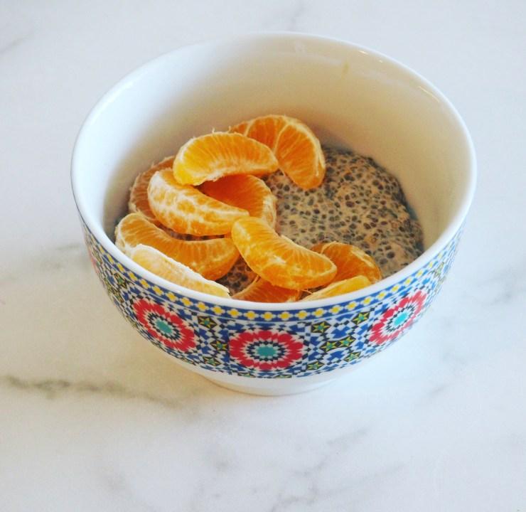 orange creamsicle chia pudding