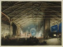 Cyfarthfa Ironworks Interior at Night, Penry Williams, 1825.