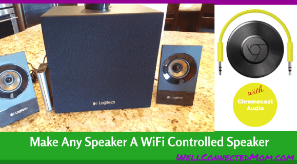 Make Dumb Speakers Smart To Stream Music - The Well Connected Mom