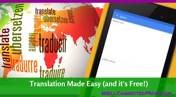 Translate from English to Spanish with Google Translate