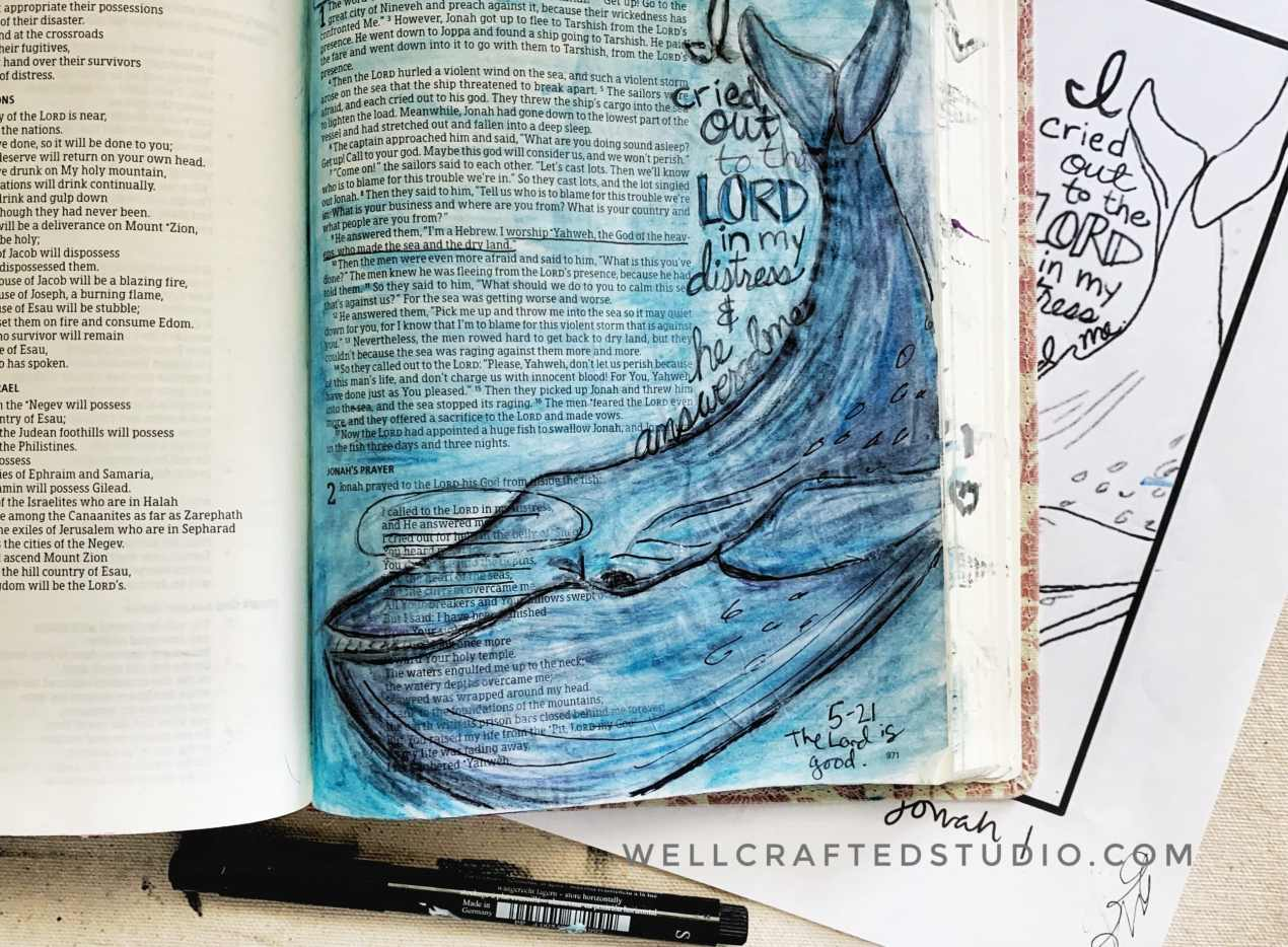Bible Art Journaling Creating In Your Bible Well Crafted