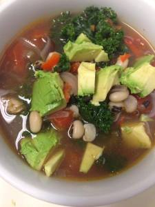 black eyed pea and kale soup