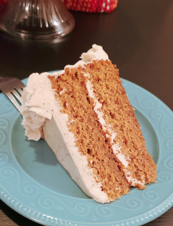 SWEET POTATO CAKE WITH BROWN BUTTER CINNAMON FROSTING
