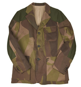 Nigel Cabourn Mallory jacket in camouflage cotton twill.