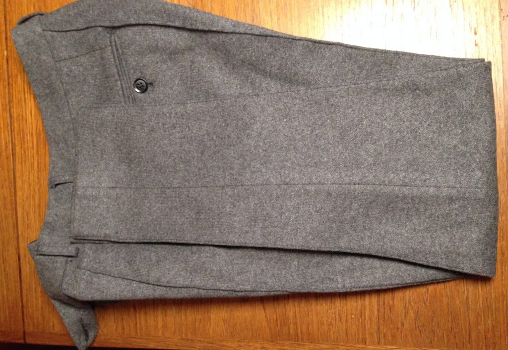 Nicely pressed Hansen Garments wool trousers. Splendid!