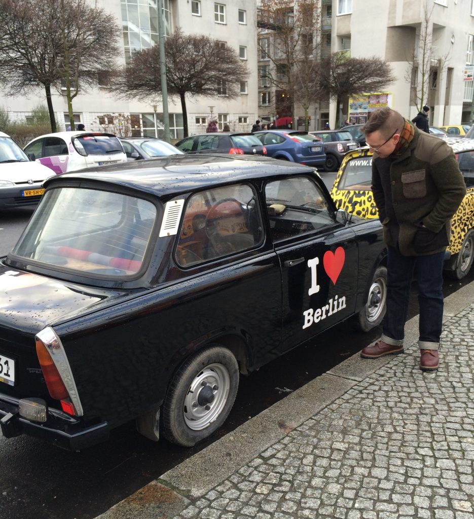 Checking out the Trabant. Fun little car. A nice candidate for a bit of hot-rodding. And I'm not being ironic!