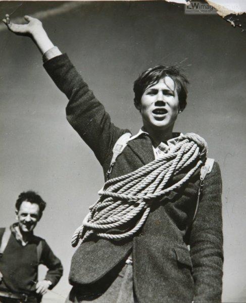 Celebrated mountaineer Chris Bonington age 15, when tweed was climbing gear du jour