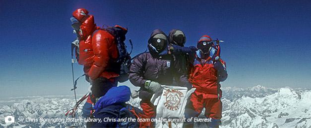 Bonington & Co at the summit of Everest