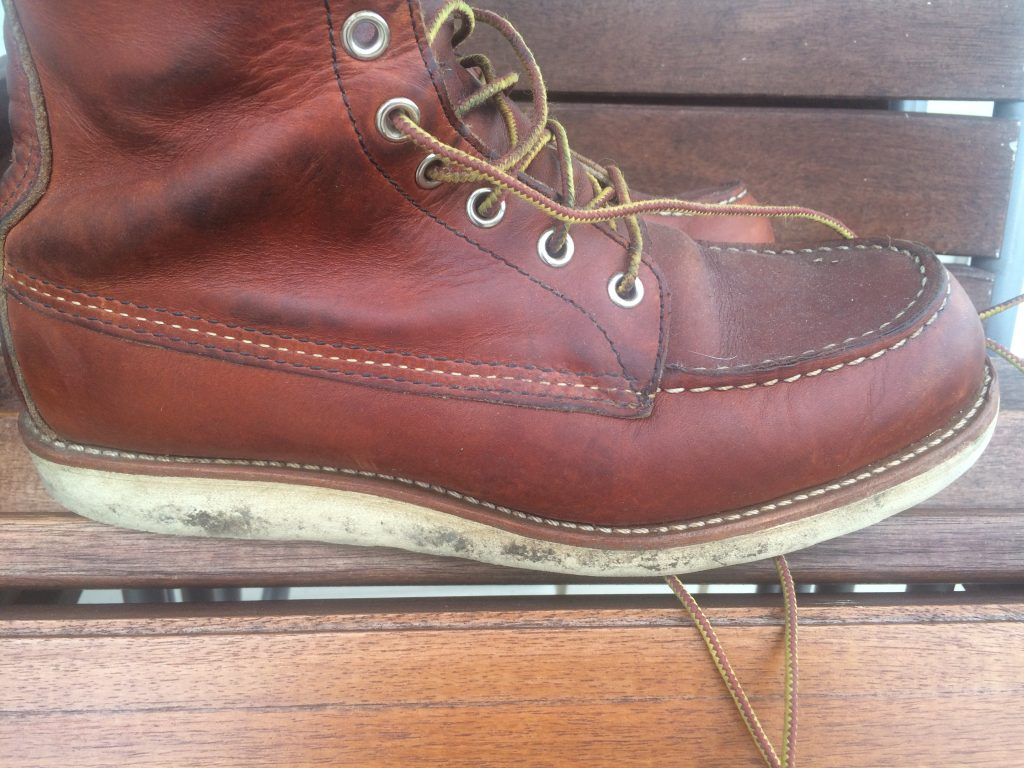 My 877 Red Wing with their scuffed and dirty Christy soles. Not looking so nice now!