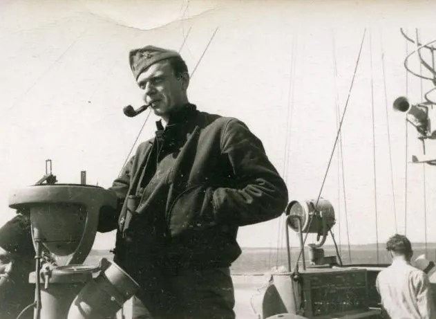 A deck jacket in it's original scenario, on a Navy boat during WW2.
