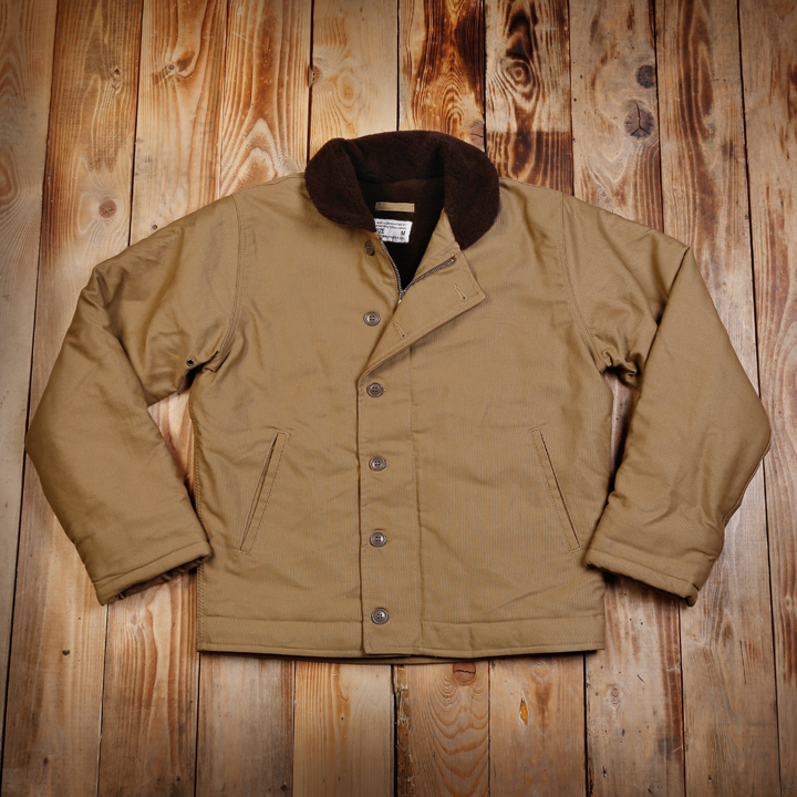 The Pike Brothers N1 deck jacket. Supplied with stencils for user application.