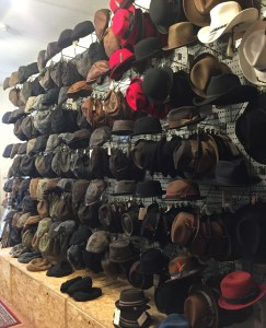 A wall of hats.