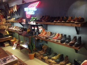 A comprehensive selection of Red Wing boots and shoes.