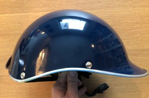 Side view showing organic lines of design of the Dashel cycle helmet.