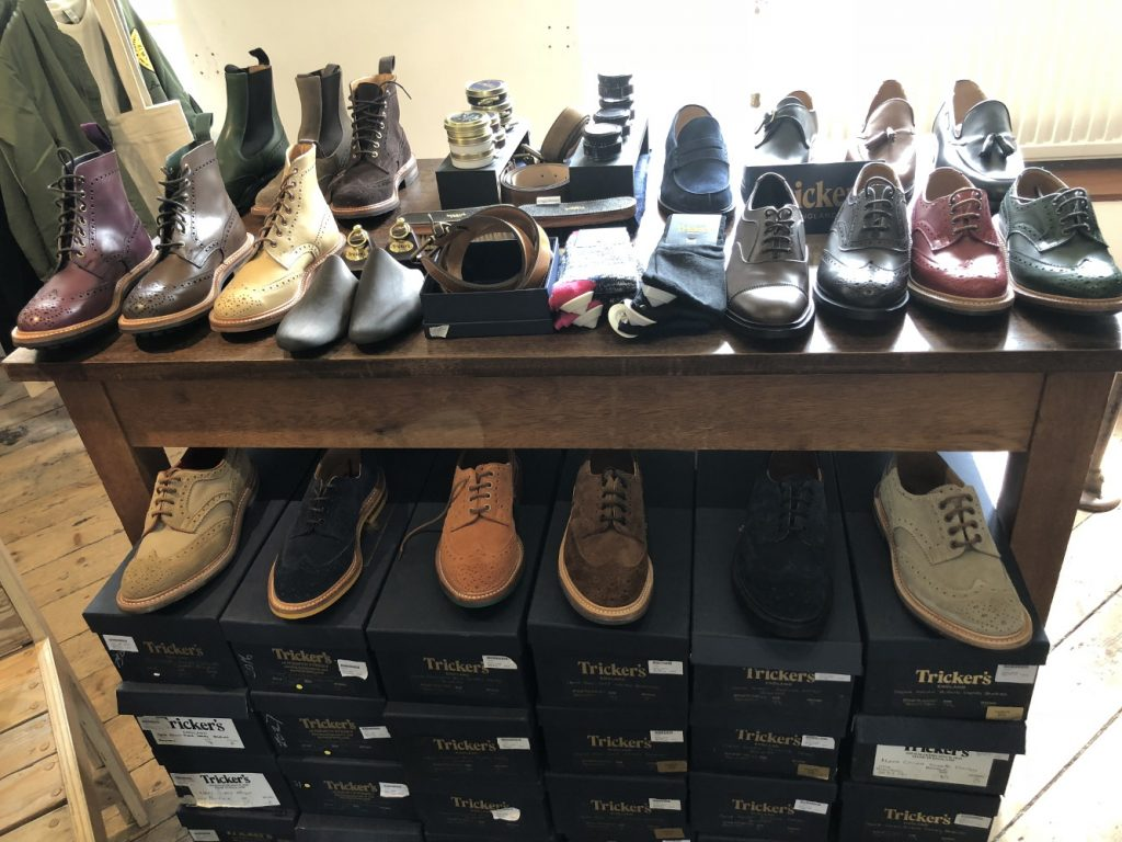 Kind of meagre selection and even more meagre discount offer, not very impressed, Trickers at Kilver Court!