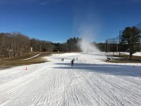 Snowblowing at practice