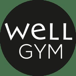 Well Gym logo pallo nega