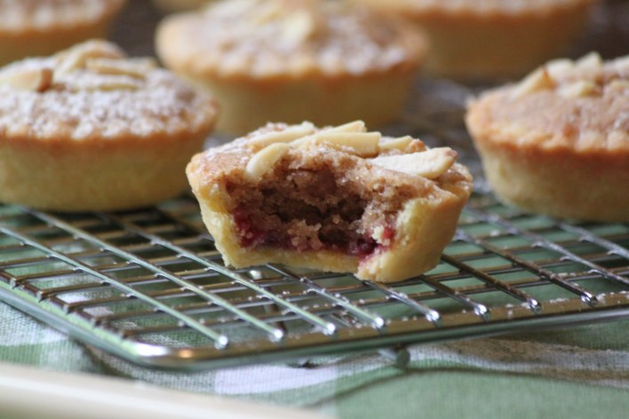 Raspberry, Cinnamon and Almond Tarts