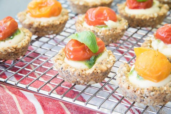 Roasted Cherry Tomato + Mascarpone Tartlets-9