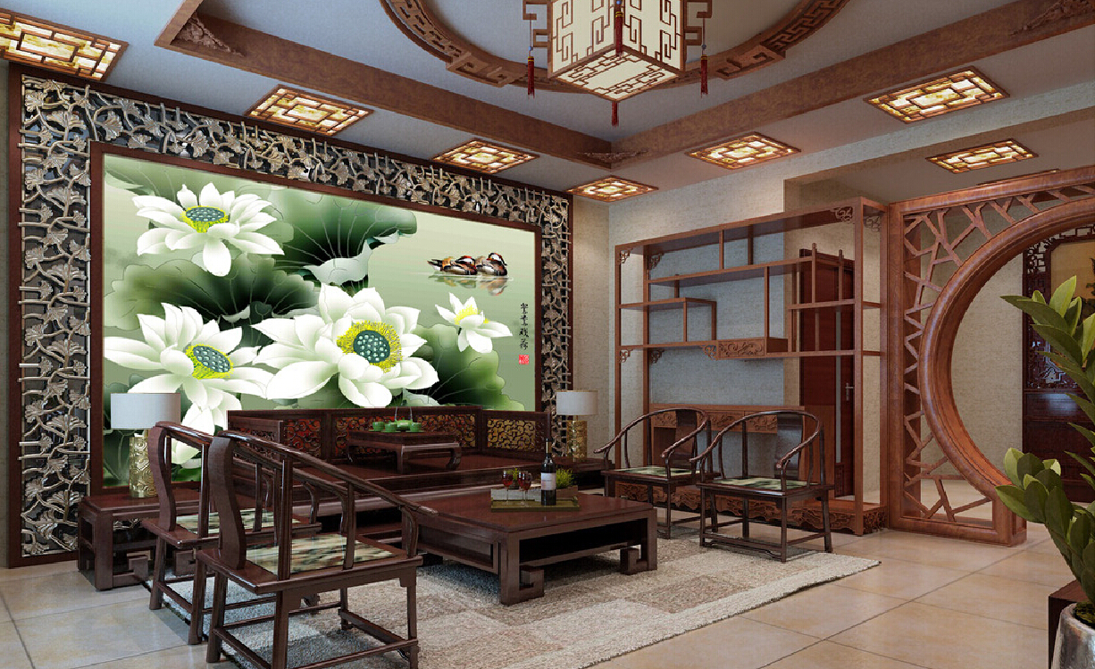 Chinese style in interior design : Home Interior And