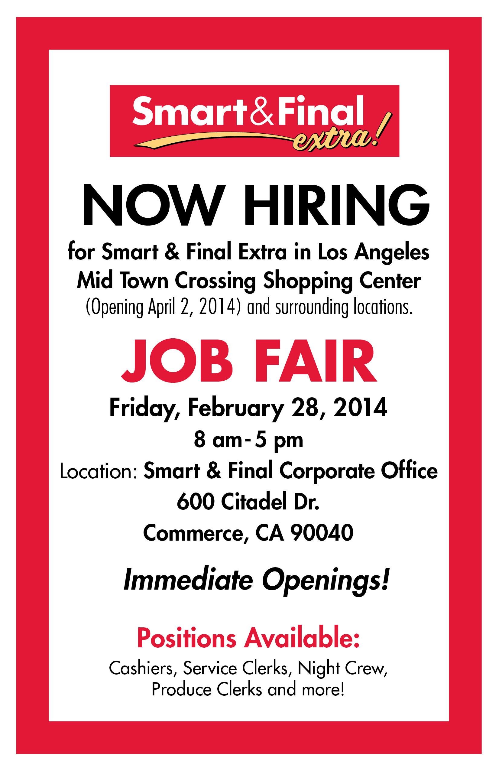 Smart & Final Mid Town Crossing – Now Hiring – Job Fair