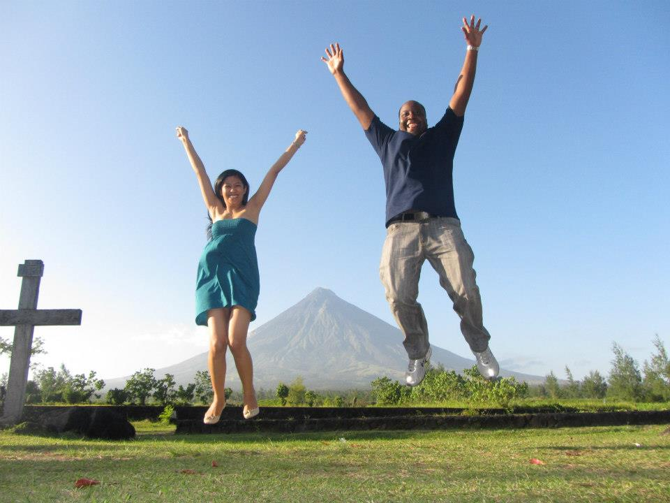 Photo Trick Shots at Cagsawa Ruins, Albay, Philippines