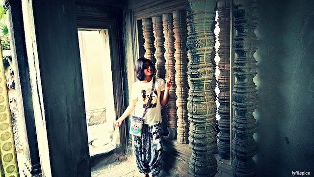 Cambodia pillars