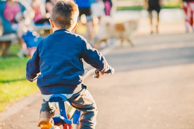 kid riding a bicycle