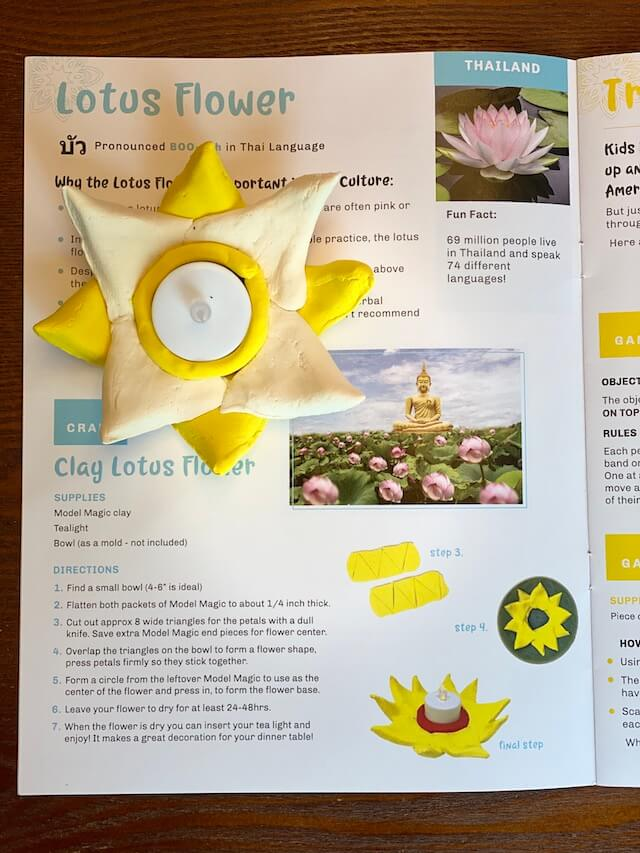 Clay Lotus Flower - Thailand with Little Global Citizens